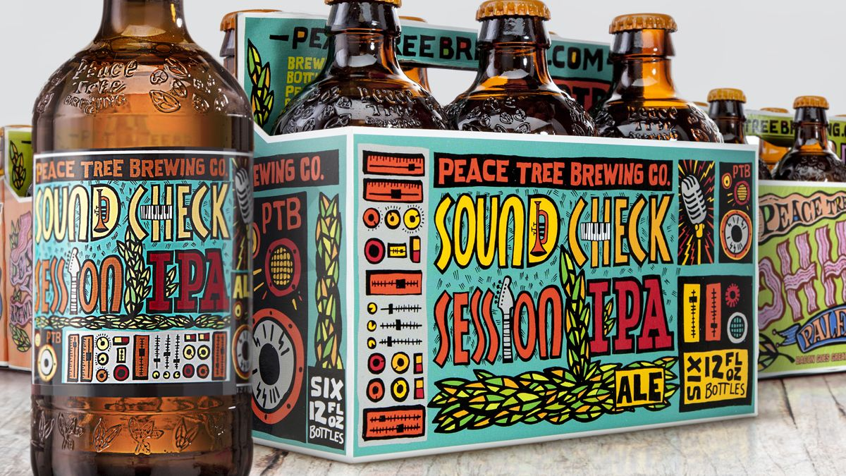 Label and Narrow Web  – Peace Tree Brewing Company Finds Success with Packaging Redesign