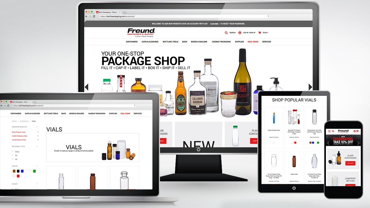 PR Newswire – Berlin Packaging Unveils Innovative New Website for Freund Container & Supply