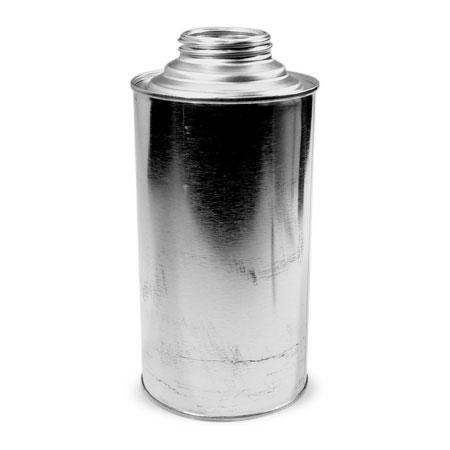 1 qt  Silver TIn Cone TopCan