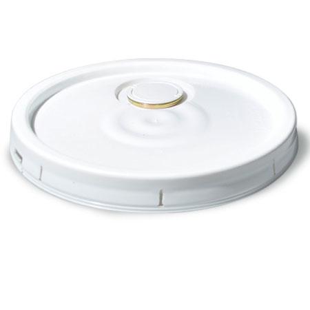 5 gal White HDPE Pour Spout / Gasket Lid