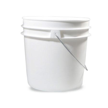 1 gal White HDPE Open HeadPail