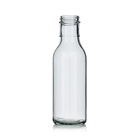 12 oz Flint Glass Round